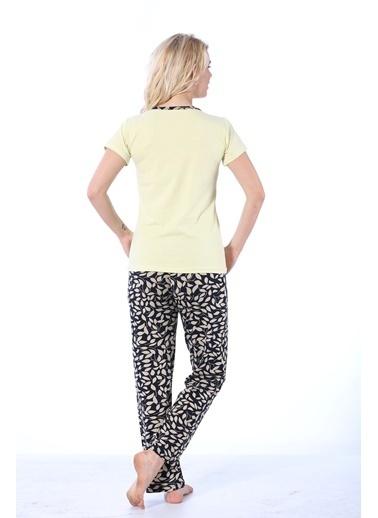 Akbeniz Pijama Takım Sarı